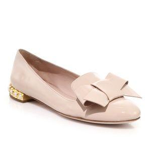 MIU MIU Jewel Heel Bow Flats